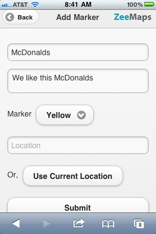 Search for local McDonalds