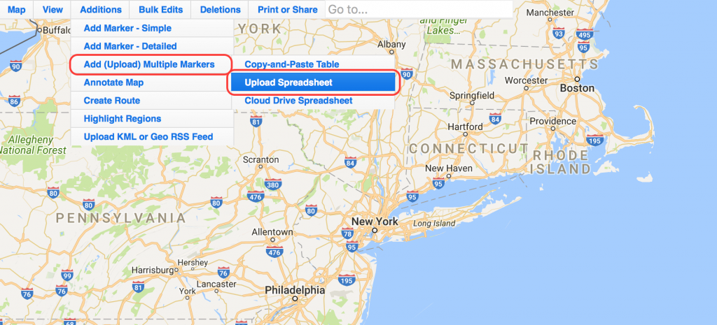 How to upload your Excel spreadsheet to populate a ZeeMaps map